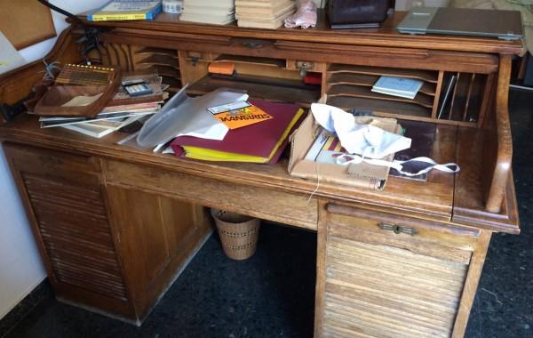 Restauración escritorio del siglo pasado Bureau. Escritorio Buró.